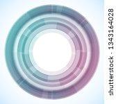geometric frame from circles ... | Shutterstock .eps vector #1343164028
