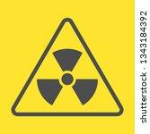 radioactive zone  vector sign... | Shutterstock .eps vector #1343184392