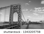 abstract industrial bridge in... | Shutterstock . vector #1343205758
