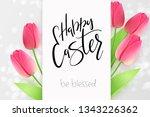 vector illustration of easter... | Shutterstock .eps vector #1343226362