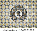 ribbon icon inside arabic style ... | Shutterstock .eps vector #1343231825
