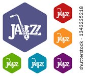 saxophone icons vector colorful ...
