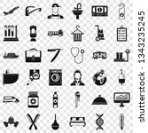occupation icons set. simple... | Shutterstock .eps vector #1343235245