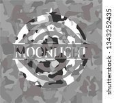 moonlight on grey camouflaged... | Shutterstock .eps vector #1343252435
