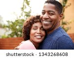 happy middle aged black couple... | Shutterstock . vector #1343268608