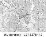 vector map of the city of... | Shutterstock .eps vector #1343278442