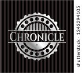 chronicle silvery emblem | Shutterstock .eps vector #1343294105
