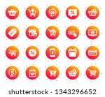 shopping icons. gift box ... | Shutterstock .eps vector #1343296652