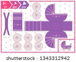cut and glue a baby carriage.... | Shutterstock .eps vector #1343312942
