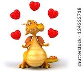 yellow dragon   Shutterstock . vector #134332718