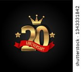 20 years anniversary simple... | Shutterstock .eps vector #1343331842