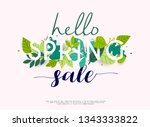 sale banner with flowers ... | Shutterstock .eps vector #1343333822