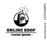 online shop design template.... | Shutterstock .eps vector #1343338895