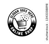 online shop design template.... | Shutterstock .eps vector #1343338898