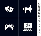 set of 4 pleasure icons set.... | Shutterstock .eps vector #1343340758