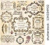 vector set  calligraphic design ... | Shutterstock .eps vector #134334932