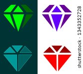 gemstone logos. emerald  ruby   ... | Shutterstock .eps vector #1343352728