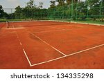 old tennis court | Shutterstock . vector #134335298