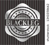 blackleg silvery emblem or badge | Shutterstock .eps vector #1343358662