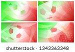 set of four football or soccer... | Shutterstock .eps vector #1343363348
