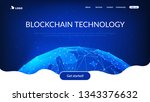 blockchain technology... | Shutterstock .eps vector #1343376632