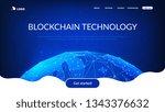 blockchain technology... | Shutterstock .eps vector #1343376632