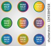 discount icon design  | Shutterstock .eps vector #1343384018