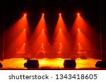 free stage with lights ... | Shutterstock . vector #1343418605