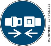 wear safety belt sign   ... | Shutterstock .eps vector #1343431838