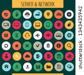 big computer networks icon set  ... | Shutterstock .eps vector #1343435942