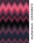 Chevron Zigzag Wave Purple...