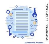 keywording tools flat design... | Shutterstock .eps vector #1343445662