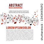 color music notes on a solide... | Shutterstock .eps vector #1343445692