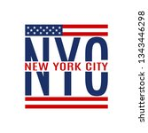 new york city text. nyc... | Shutterstock .eps vector #1343446298