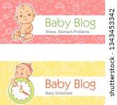 illustration for baby blog.... | Shutterstock .eps vector #1343453342