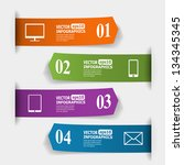 abstract paper infografics.... | Shutterstock .eps vector #134345345