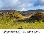 fairy glen at isle of skye ... | Shutterstock . vector #1343454248