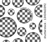 seamless circle pattern on... | Shutterstock .eps vector #1343463392