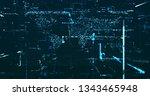 abstract digital data background | Shutterstock . vector #1343465948
