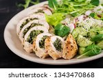 baked chicken rolls with... | Shutterstock . vector #1343470868