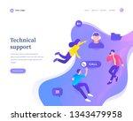 technical support concept ... | Shutterstock .eps vector #1343479958
