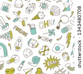 seamless pattern with patch... | Shutterstock .eps vector #1343480708