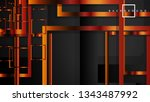 vector modern abstract squares... | Shutterstock .eps vector #1343487992