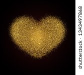gold glitter texture heart on... | Shutterstock .eps vector #1343497868