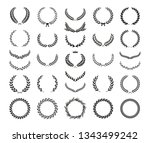 collection of different black... | Shutterstock .eps vector #1343499242