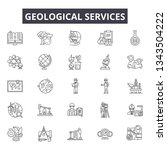 geological services line icons... | Shutterstock .eps vector #1343504222