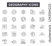 geography line icons for web...   Shutterstock .eps vector #1343504225