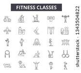 fitness classes line icons for...   Shutterstock .eps vector #1343504822