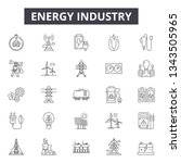 energy industry line icons for... | Shutterstock .eps vector #1343505965