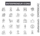enterpreneur line icons for web ... | Shutterstock .eps vector #1343506142